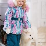Зимний костюм для девочки (60% овечья шерсть)